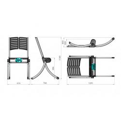Chaise de relevage assisté RAIZER - Dimensions
