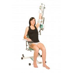 Exemple d'utilisation Attelle motorisée Kinetec CENTURA - Épaule, bras tendu vers le haut