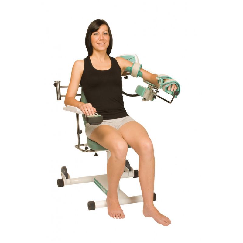 Exemple d'utilisation Attelle motorisée Kinetec CENTURA - Épaule, bras tendu à l'horizontale
