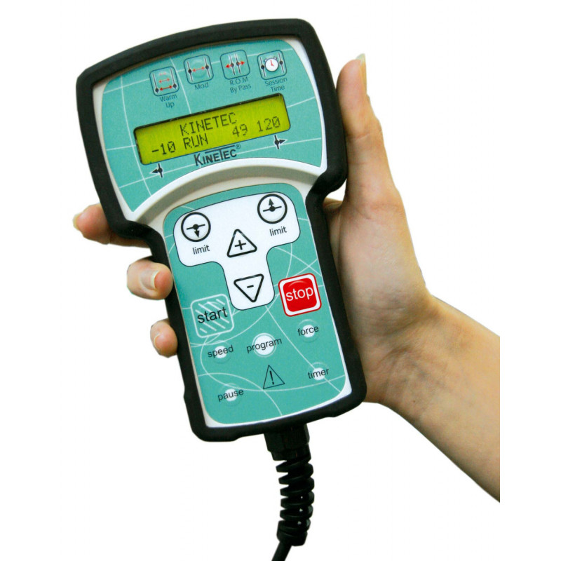 Arthromoteur - Attelle motorisée Kinetec SPECTRA - Coques confort - Commande de contrôle du programme