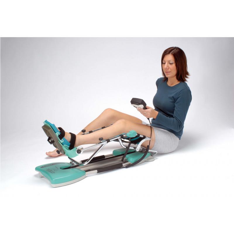 Arthromoteur - Attelle motorisée Kinetec SPECTRA - Coques confort - Exemple d'utilisation