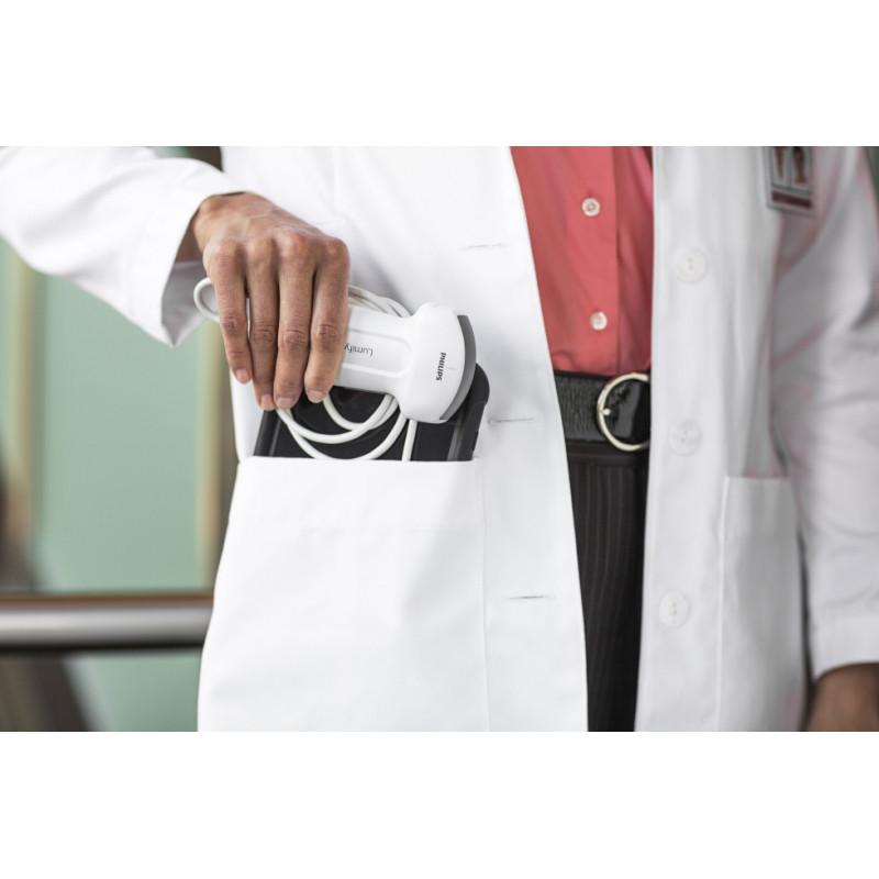 Mise en poche des sondes échographiques intelligentes Lumify par un médecin