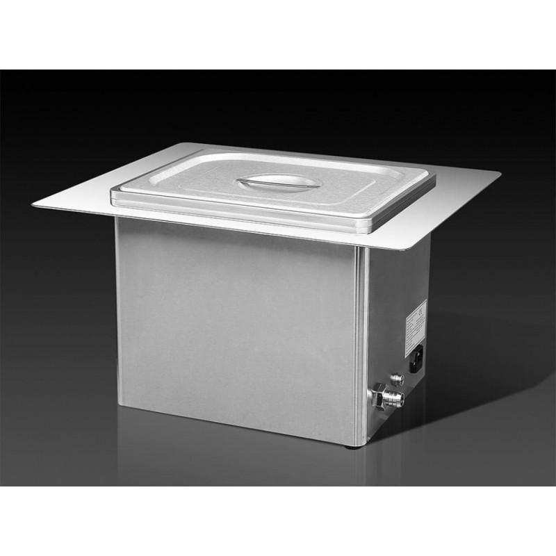10L Bac à ultrasons INOX encastrable MHC 100E + kit d'affichage numérique