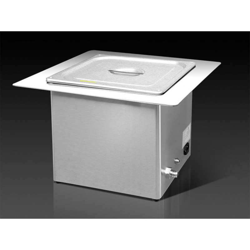 13L Bac à ultrasons INOX encastrable MHC 130E + kit d'affichage numérique