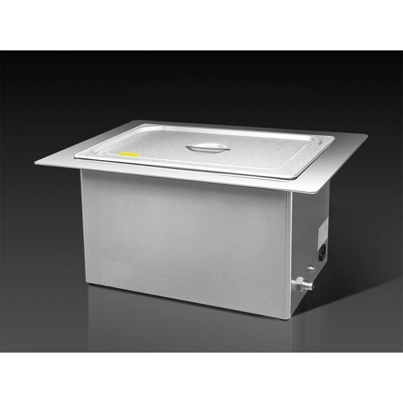 Bac à ultrasons de 20L INOX encastrable