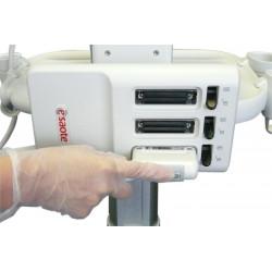 Echographe portable - MyLab One tactile en cours d'utilisation